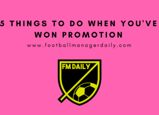 5 things to do when you've won promotion FM18